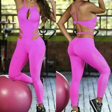 Colombian Brazilian Women's Jumpsuit Enterizo Supplex Mesh S M Gym Workout Yoga