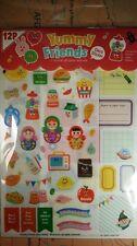 12 sheets Korean Cute deco PVC stickers  adhesive Diary scrapbook yummy friends