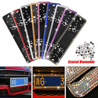 EU Russian Car Licence Number Plate  Crystal Diamonds License Plate