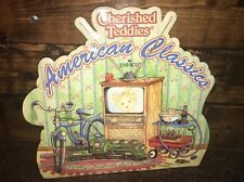 Nib Nos Cherished Teddies 749516 American Past-Time Backer Display