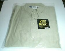 Lord of the Rings Misb Tan Small Medium S/M Cotton Shirt Museum Replicas 100158