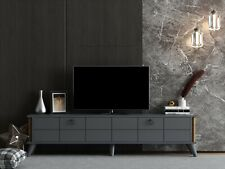 """ALICE Modern TV Cabinet Stand Unit Wooden Media Storage Space Shelves, up to 70"""""""