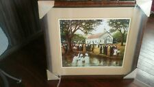 """African American Black Art Print """"OLD FASHIONED BAPTISM"""" by Arthello Beck"""