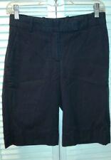 H & M Stretch Women's Blk Pin Stripe Shorts, Knee Length, size 4 US (34EUR)