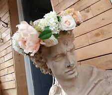 PEACHES N SOGNO Peony & Fiore Rosa Corona Ghirlanda | | Circlet | Capelli Sposa