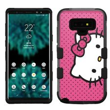 for Samsung Galaxy Note 9, Hard+Rubber Rugged Cover Case Hello Kitty #D