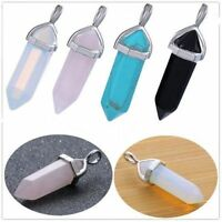 Natural Quartz Crystal Point Chakra Healing Stone Gemstone Pendant for Necklace