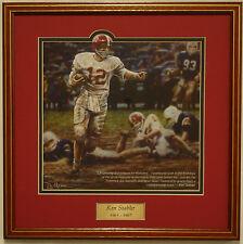 """Alabama football Ken Stabler """"Run in the Mud"""" framed print by Daniel Moore"""