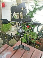 Cast Iron horse weathervane Ridge mount