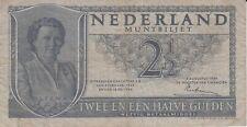 BILLET PAYS-BAS NEDERLAND 2 1/2 GULDEN 1949