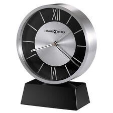 New Howard Miller Modern Contemporary Davis Silver Mantel Desk Table Clock