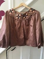 SIZE 10 MARKS & SPENCER TAN AUTOGRAPH JACKET TOWIE/XMAS/CHELSEA   NEW RRP £69