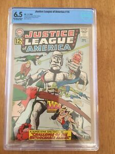 JUSTICE LEAGUE OF AMERICA #15 (DC, 1962) CBCS 6.5 STONE GIANTS!