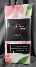 Nicole Miller Set of 4 Sierra Floral Napkins 18x18 Easy Care SHIPS FREE