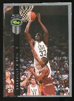RARE  ROOKIE SHAQUILLE 92-93 CLASSIC SHAQ BLANK BACK W/ ERROR O'NEAL PREFORATED