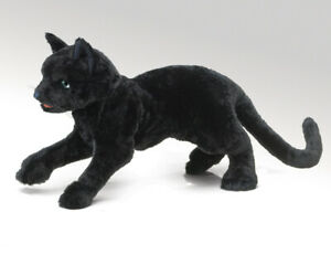NEW PLUSH SOFT TOY Folkmanis 2987 Black Cat Full Body Hand Puppet
