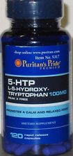 Puritan's Pride 5-HTP 100mg 120 Capsules - Weight Management  Mood Serotonin