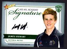 2012 AFL Select Future Force AIS-AFL Academy Signature Card James Stewart  #105