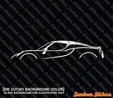 2x silhouette stickers auto  aufkleber - for Alfa Romeo 4C coupe sports car