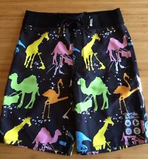MAMBO Surf Deluxe Teen Boy Camel Giraffe Tie Waist Board Surf Swim Shorts 14