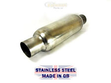 "4"" Bullet Bomb Silencer 2.5"" Inlet 12"" Length Stainless Exhaust Middle Back Box"