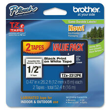 2PK Brother TZ231 TZe231 12mm tape PT2700 PT200 PT1290