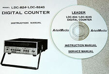 Leader LDC-824 / LDC-824S Counter, Operating & Service Manuals w/Schematics 2VOL