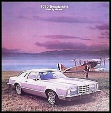 1979 Ford T-bird Thunderbird Brochure Aviation Theme Original 79