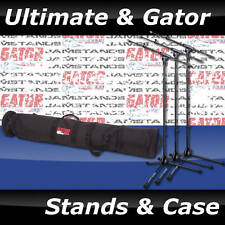 3 Ultimate Support MCFB100 Jamstands & Gator GX-33 Case