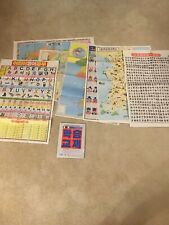 Korean Tourist Road Map + 6 Other Folder Wall Maps Charts Alphabet Characters 부산