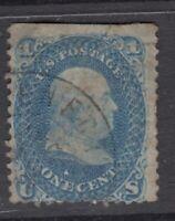 USA Scott #63  1 cent  blue