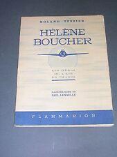 Aviation Hélène Boucher biographie illustré d'aquarelles couleurs 1943
