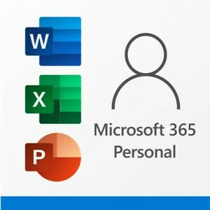 Microsoft 365 Personal - 1 Person -No Disk- Email Key! - 12 Month