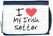 I Love Heart My Irish Setter Denim Wallet