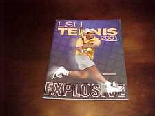 2001 LSU Tigers NCAA College Tennis Media Guide