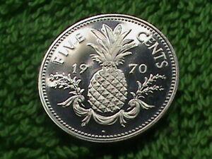 BAHAMAS 5 Cents 1970 PROOF