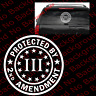 LARGE - Protected By 2nd Amendment 3 Percenter 3% Vinyl Decal Gun Rights FA85B