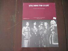 Sheet Music Aerosmith You See Me Cryin' 1975