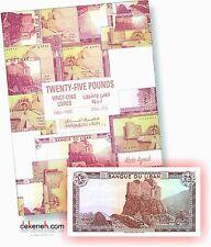 2016 NEW Album for Lebanese banknotes 25 Livres 1964 - 1988 Lebanon Liban Libano
