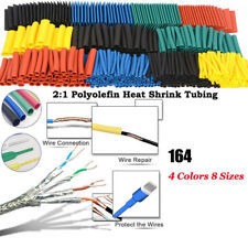 164pcs Muti-color Sleeving Wire Wrap Kit Heat Shrink Tubing Tube Cable Ratio 2:1