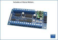 Blocksignalling Servo Controller with 4 Servo Motors Srv4A