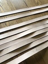 11 1.5� Wide Leather Strips - Natural - Genuine Cowhide