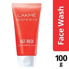Lakme Blush and Glow Strawberry Gel Face Wash, 100g FREE SHIPING
