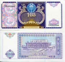 Uzbekistan Uzbekistan 1994 100 Som So'm SUm UNC Uncirculated Banknote Currency