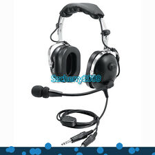 New Black Pilot Headset PNR (Passive Noise Reduction) Aviation Headset IN-1000