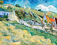 Cottages by Vincent van Gogh A1+ High Quality Art Print
