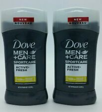 Dove Men Care Sportcare Active Fresh 48Hour Deodorant 3 Ounce Solid Lot of 2