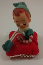 Vintage Elf Pixie Knee Hugger on Pillow Christmas Ornament Japan