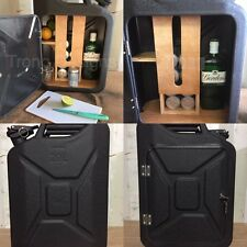 Upcycled Jerry Can Gin and Tonic Mini Bar,Picnic,Camping,Recycled,Drinks Cabinet