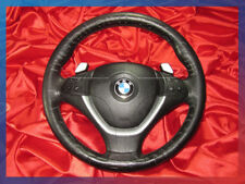 BMW E70 E71 X5 X6'ies SPORT STEERING WHEEL AIRBAG LEATHER SHIFT PADDLES SWITCH